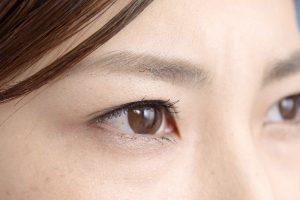 眉毛が薄い女性の目の画像