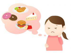 食生活が乱れている女性の画像
